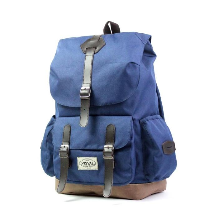 Visval Abigail Navy Tas Ransel Backpack Laptop Branded Keren Bagus