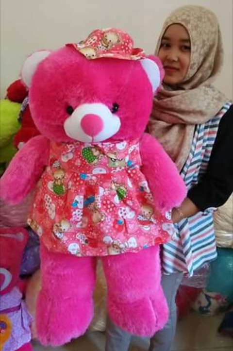 Jual boneka CANTIK teddy bear baju topi - ISTANA BONEKA TEDDY ... 58e38acf5c