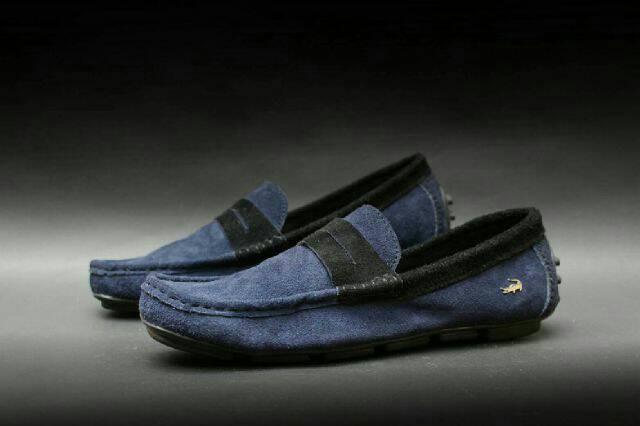 Jual FREE BONUS !!! Sepatu Casual Murah Lacoste Slipon Kulit Suede ... 68e5f97771