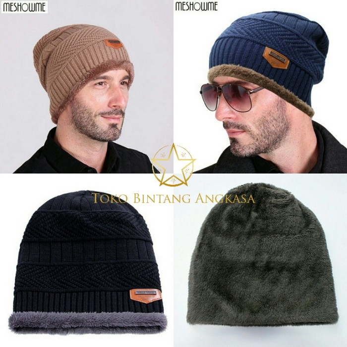 Topi kupluk winter import   kupluk musim dingin   kupluk camping - Hitam ec1314648c