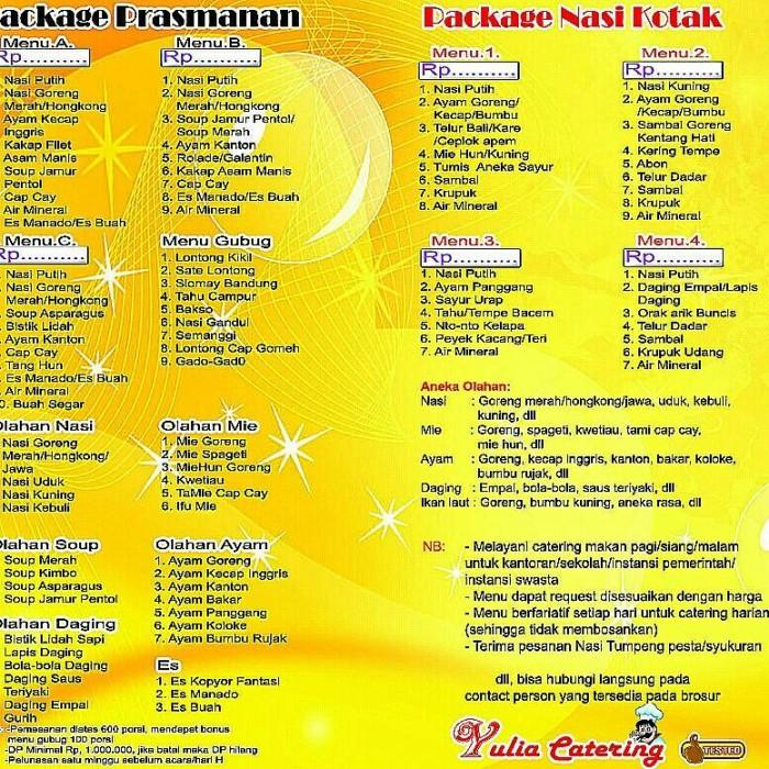 Jual Catering Yulia Kota Surabaya Mivelstore Tokopedia