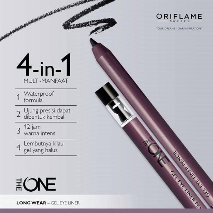 harga The one gel eye liner pencil Tokopedia.com
