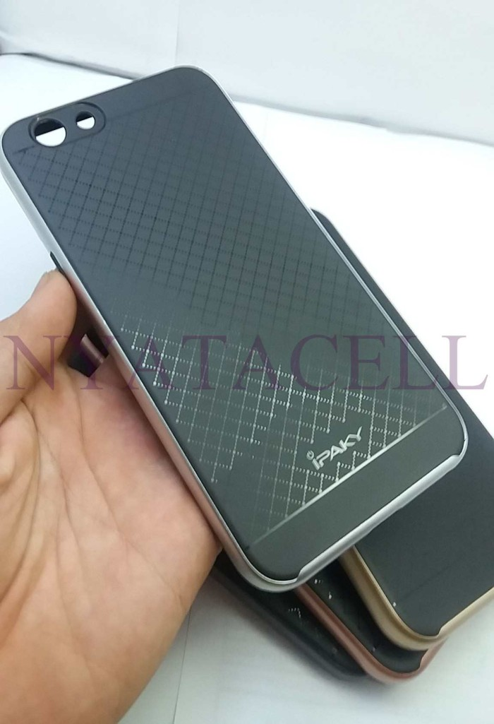 harga 100% original case ipaky oppo f1s a59 soft carbon + bumper frame hard Tokopedia.com