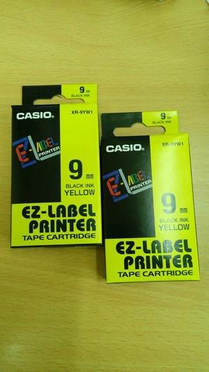 harga Casio ez-label printer 9mm black ink yellow xr-9yw1 original Tokopedia.com