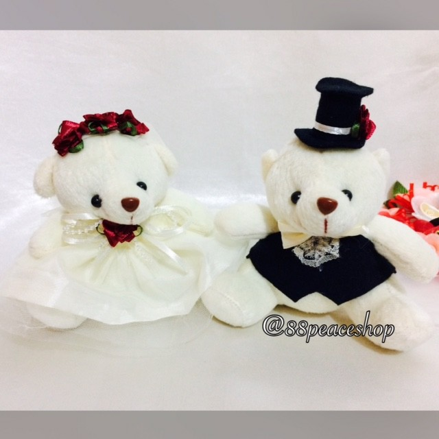 harga Boneka wedding teddy bear 14cm Tokopedia.com