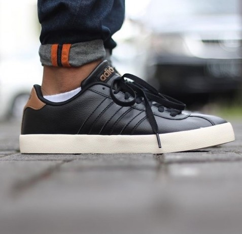 new zealand adidas vl neo court leather mens trainers black