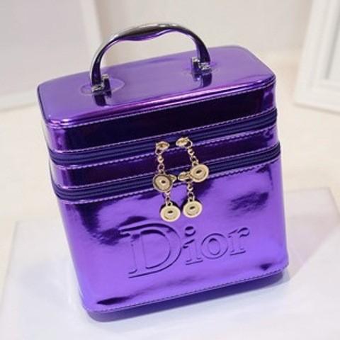 harga Tas kosmetik dior kotak perhiasan double zipper box make up box import Tokopedia.com