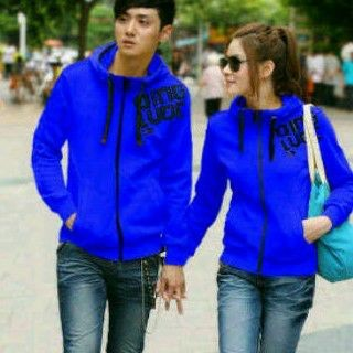 sweater couple qing luoc blue
