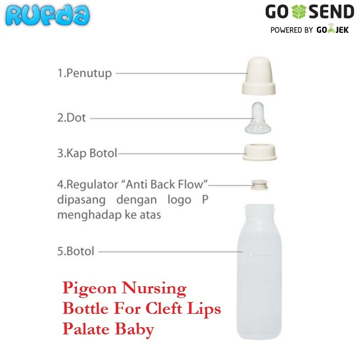harga Pigeon nursing bottle for cleft lips palate baby (botol bibir sumbing) Tokopedia.com