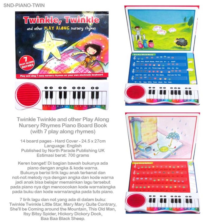 Twinkle Twinkle and other Play Along Nursery Rhymes Piano Board Book