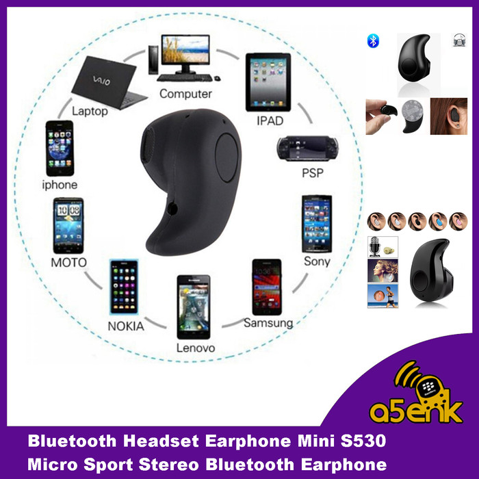Bluetooth Headset Earphone Mini S530 Micro Sport Stereo Bluetooth