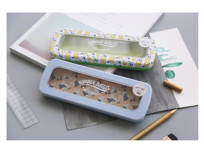 harga Beautiful summer breeze tin pencil case-tempat alat tulis kaleng fancy Tokopedia.com