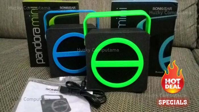 harga [sonic gear] pandora mini speaker bluetooth + fm radio. usb dan memory Tokopedia.com