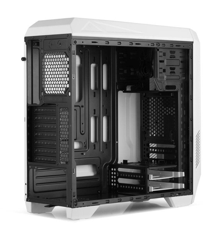cube gaming elbrus white full acrylic window 1x12cm led fan