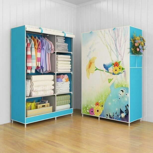 harga Lemari pakaian multifunction wardrobe with cover motif special edition Tokopedia.com
