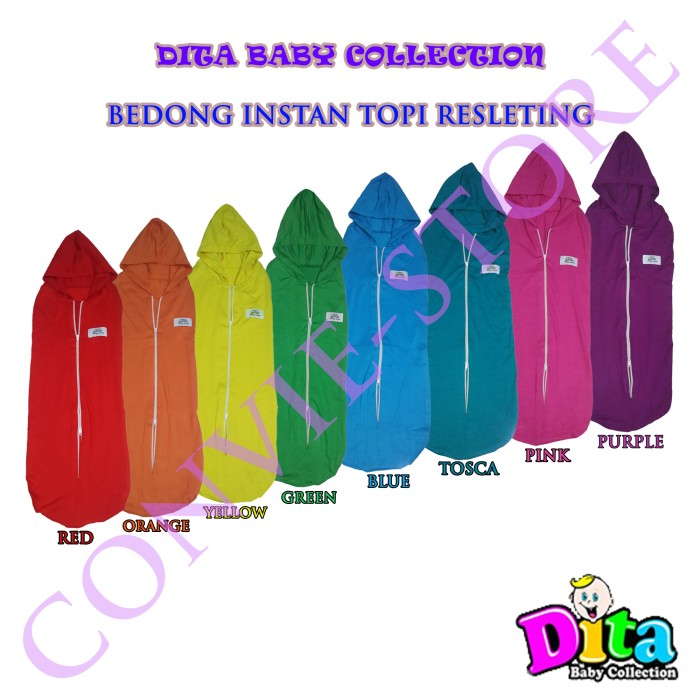 Dita Baby Collection Bedong Instan Topi Resleting - DBT001