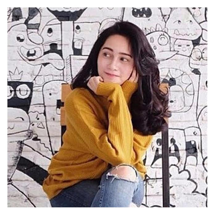 harga Jual baju sweater korea rajut atasan wanita boxy mustard murah Tokopedia.com