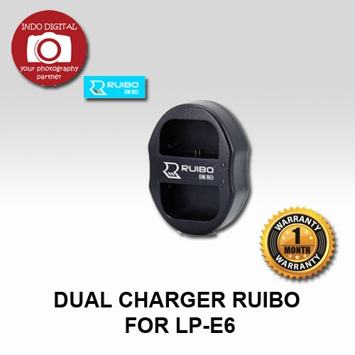 Dual charger ruibo for lp-e6 for battery lp-e6