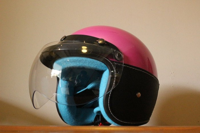 Helm anak abs for kids helmet pink
