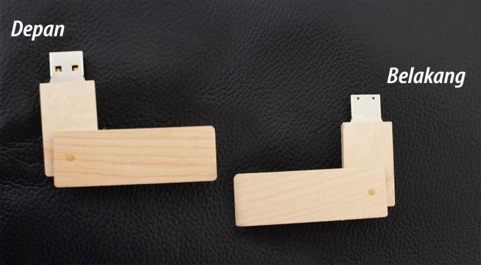 Foto Produk Flashdisk Kayu Swivel Promosi Type : FDWD 21 dari Zero Promosi