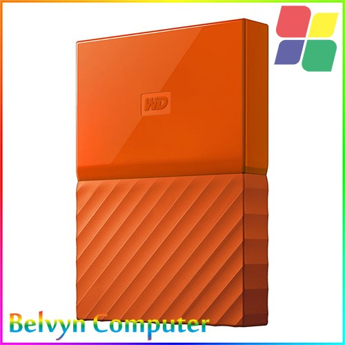 WD My Passport 3rd Generation 4TB Hardisk Eksternal USB 3.0 - ORANGE