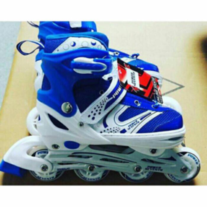 harga Sepatu roda inline skate power biru Tokopedia.com