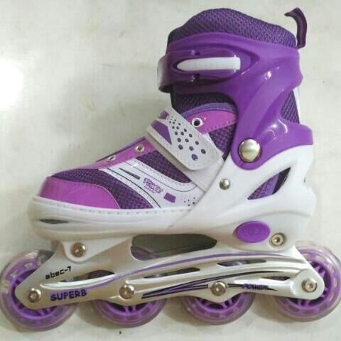 Jual Sepatu Roda Inline Skate Power Warna Ungu S M L - AurumStore ... d5f8cf7f3e