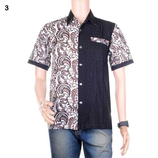 Jual baju batik pria kemeja batik hem batik kombinasi prakarsa cek ... a032f1a9a8