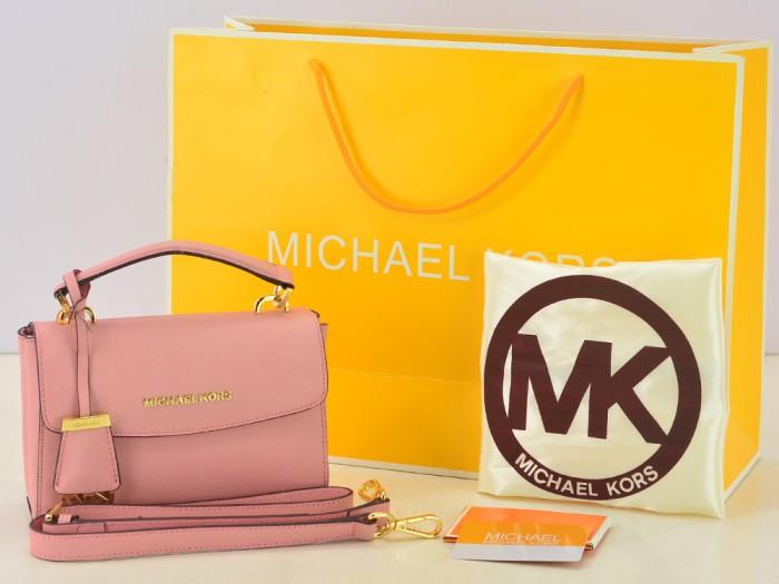 419a5aca317b Jual Tas Michael Kors Saffiano Ava Extra-Small Crossbody Pink Muda ...