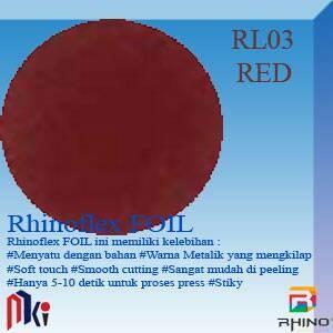 harga Polyflex korea / poly flex / rhino flex foil red Tokopedia.com