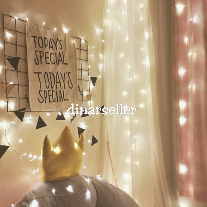 Jual Led Twinkle Dekorasi Tumblr Lamp Lampu Hias Natal Warm