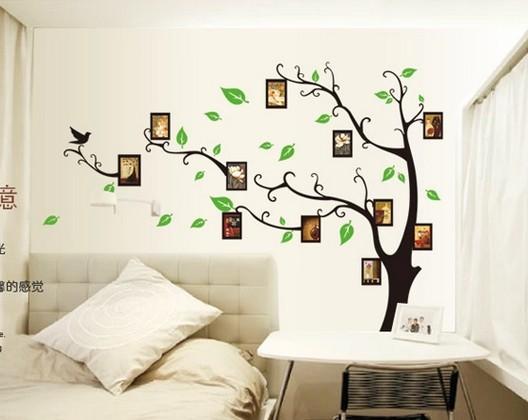 jual wallsticker frame tree black/ dekorasi/ stiker dinding/ pohon