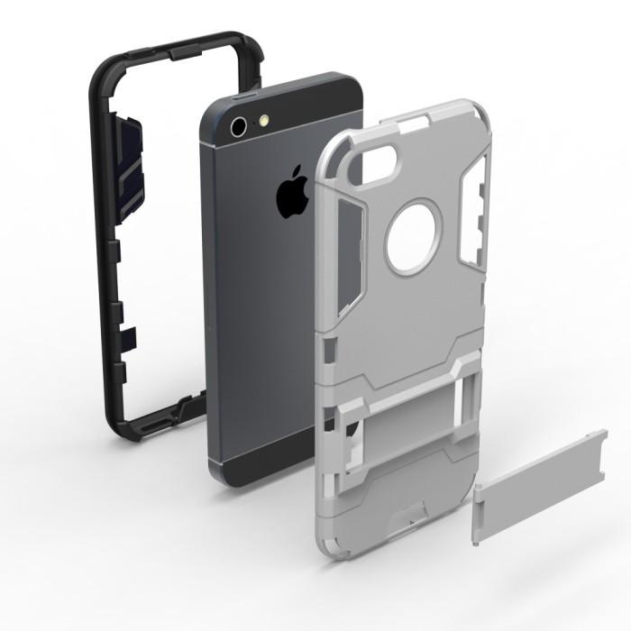Case Robot Iphone 5/5S/SE Hard Transformer / Hybird Iron .