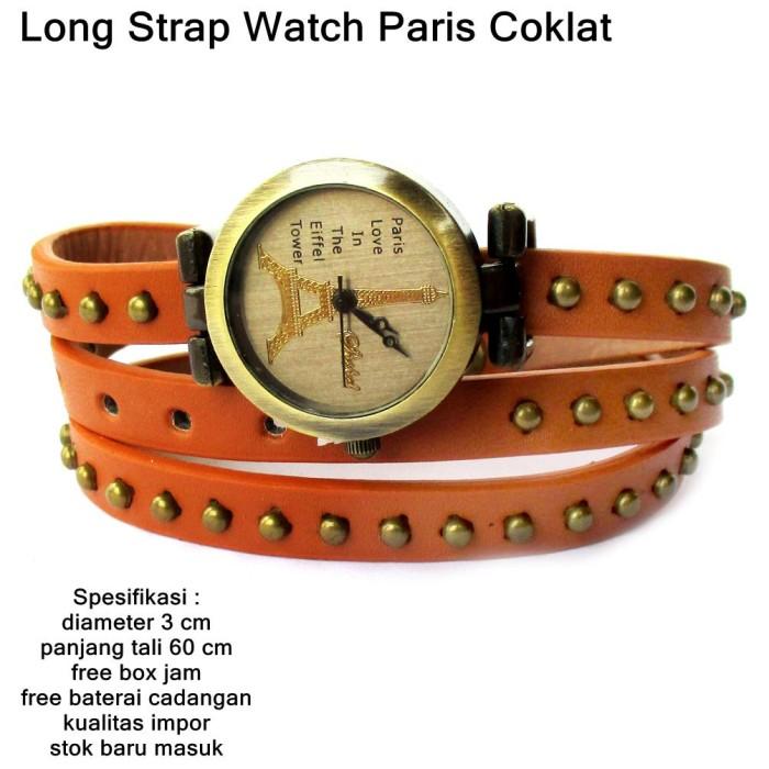harga Jam tangan wanita kulit paris long strapp clasic full set coklat Tokopedia.com