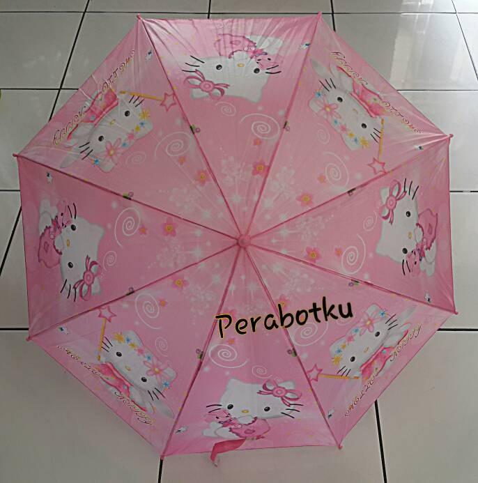 harga Payung tongkat anak hello kitty + peluit umbrella karakter warna pink Tokopedia.com