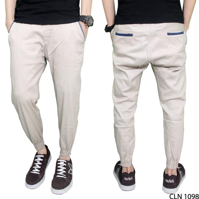 harga Celana jogger laki laki chino krem cln 1098 - 29 Tokopedia.com