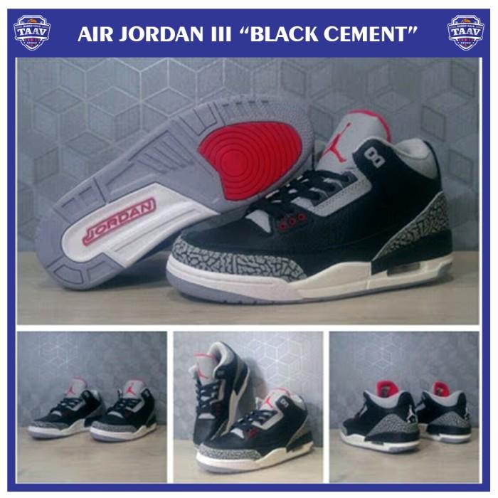harga Sepatu basket nike air jordan 3 ( aj iii) black cement Tokopedia.com