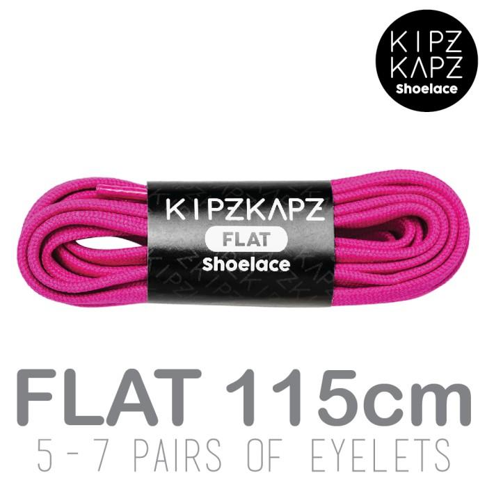Kipzkapz shoelace - tali sepatu ungu flat 8mm - berry purple 115cm