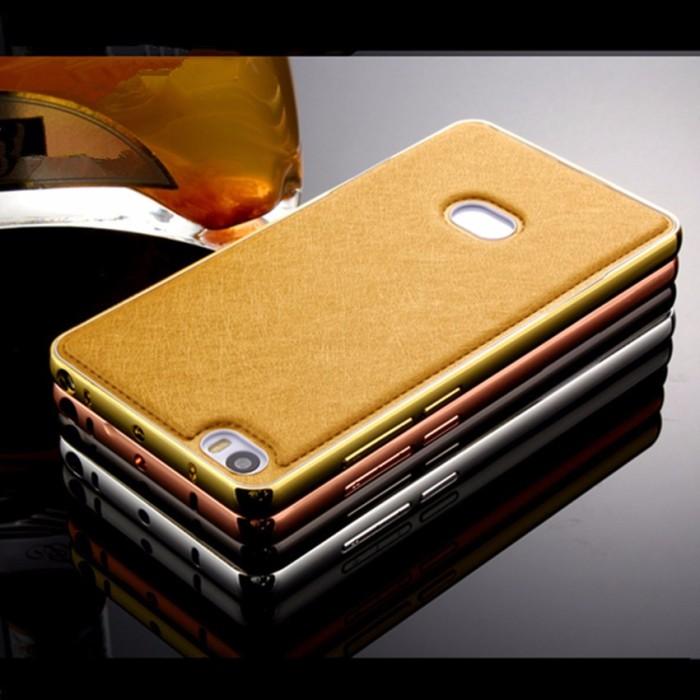 harga Hardcase leather aluminium bumper back cover mi note pro 5.7  casing Tokopedia.com