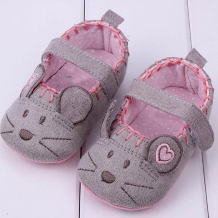 harga Grey mouse prewalker shoes -baby bayi anak sepatu sandal cewek cowok Tokopedia.com