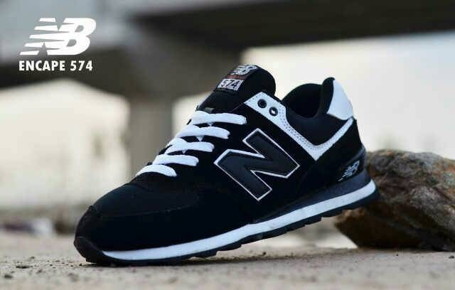 Jual Free Bonus !!! Sepatu Casual NB Premium Impor Terbaru - Hitam ... f6f5565f22