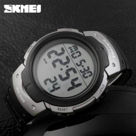 SKMEI Pioneer Sport Watch Water Resistant 50m DG1068 Black Silver .