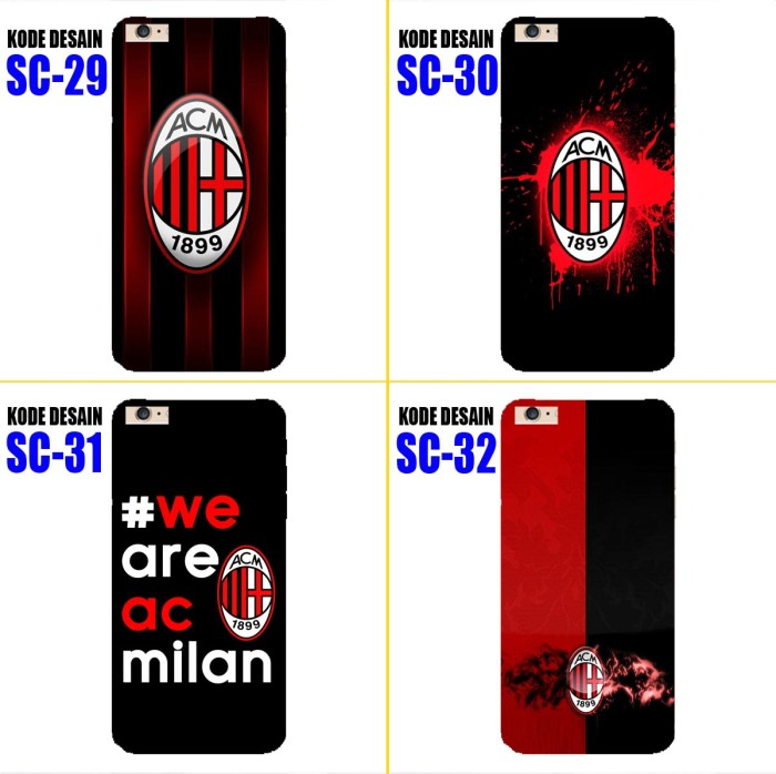 harga Custom case casing softcase / hardcase ac milan jersey utk berbagai hp Tokopedia.com