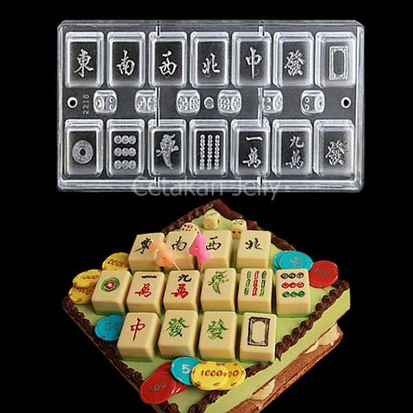 harga Cetakan coklat mini mahjong & dice Tokopedia.com