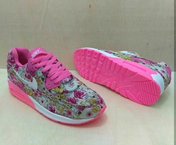 ... harga Sepatu nike airmax 90 flower kuning pink putih senam olahraga  cewek Tokopedia.com 64060e8448
