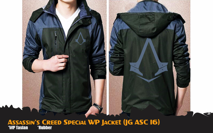 Jual Assassin S Creed Waterproof Wp Jacket Jaket Hoodie Anime