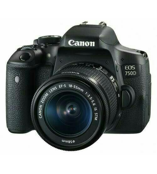 harga Canon eos 750d lensa 18-55 is stm / camera dslr canon eos 750d kit Tokopedia.com