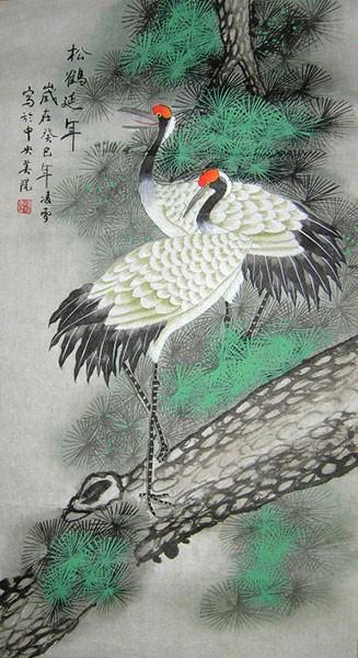harga Repro gambar lukisan burung cranes pelikan pretty painting beautiful Tokopedia.com