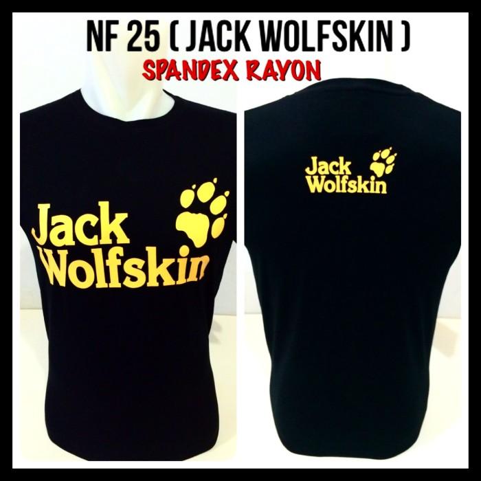 Kaos outdoor jack wolfskin jw wolf skin spandex hitam baju distro .