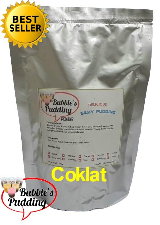 harga Bubble's coklat premix silky pudding powder bahan bubuk puding 500gr Tokopedia.com